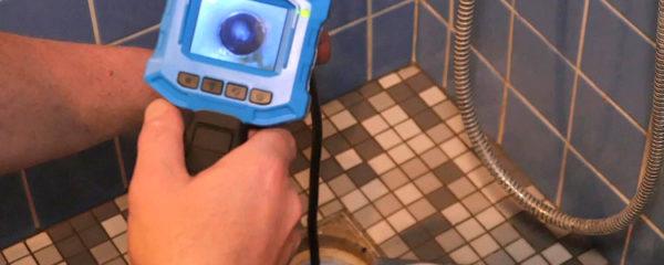 canalisation avec caméra